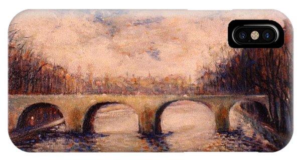 Pont Sur La Seine IPhone Case