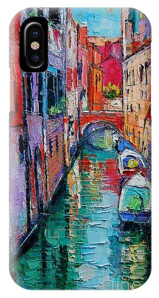 Facade iPhone Case - Ponte Raspi O Sansoni - Venice - Italy by Mona Edulesco