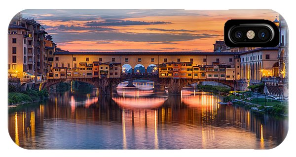 Ponte Vecchio At Sunset IPhone Case