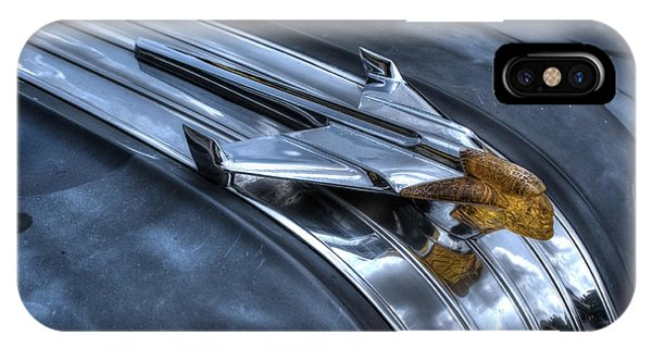 IPhone Case featuring the photograph Pontiac Hood Ornament by Michael Colgate