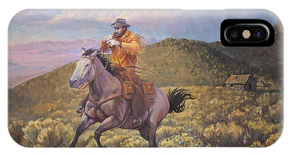 Pony Express Rider At Look Out Pass IPhone Case