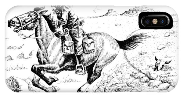 Pony Express Rider IPhone Case