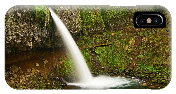 Ponytail Falls At The Columbia River Gorge In Oregon. IPhone Case