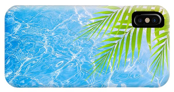 Poolside On Tropical Beach Phone Case by Anna Om
