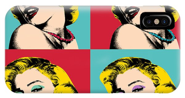 Marilyn Monroe iPhone Case - Pop Art Collage  by Mark Ashkenazi