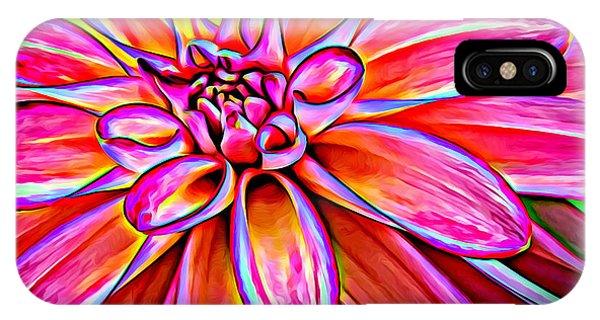 Pop Art Dahlia IPhone Case