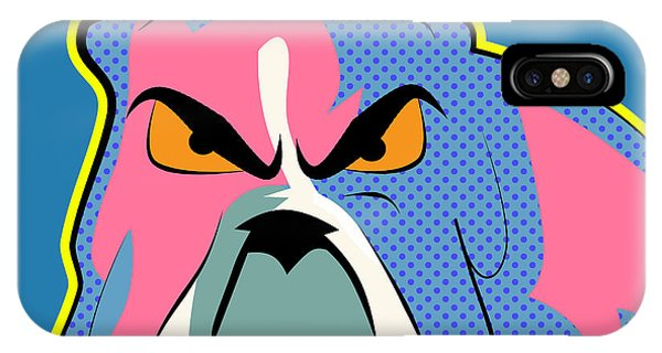 Bull Art iPhone Case - Pop Art Dog  by Mark Ashkenazi
