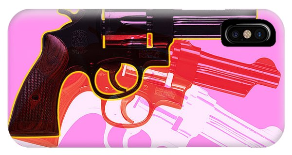 Illustration iPhone Case - Pop Handgun by Gary Grayson