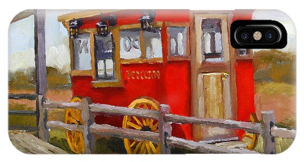 Popcorn Wagon In Viroqua IPhone Case