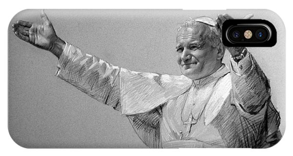 Palace iPhone X Case - Pope John Paul II Bw by Ylli Haruni