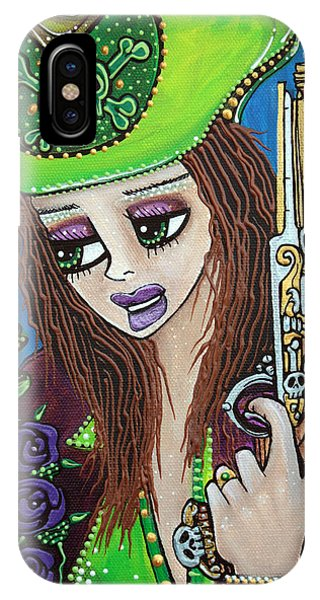 Poppet Pirate At Chameleon Cove Phone Case by Laura Barbosa