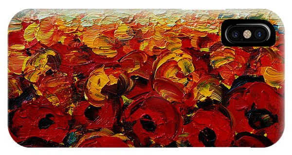 Fauvism iPhone Case - Poppies 2 by Mona Edulesco