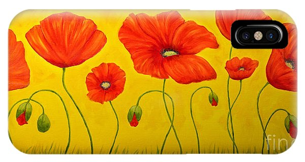 Poppies At The Time Of IPhone Case