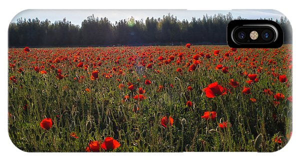Poppies Field Forever IPhone Case