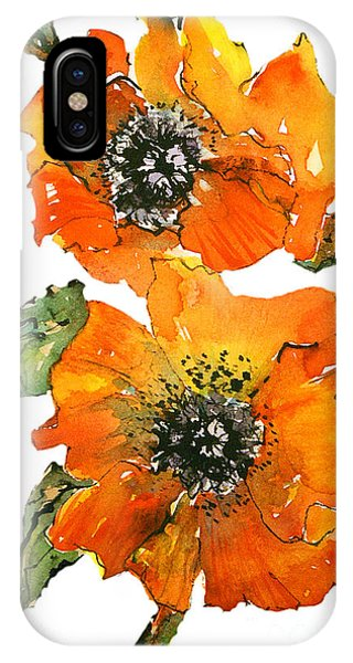 Poppies Phone Case by Gwen Nichols