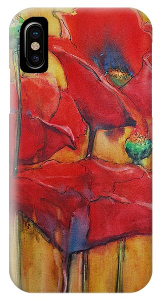 IPhone Case featuring the painting Poppies IIi by Jani Freimann