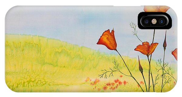 Poppies In A Field IPhone Case