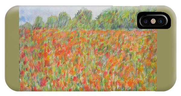 Poppies In A Field In Afghanistan IPhone Case