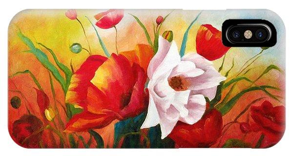 Poppies In My Garden IPhone Case