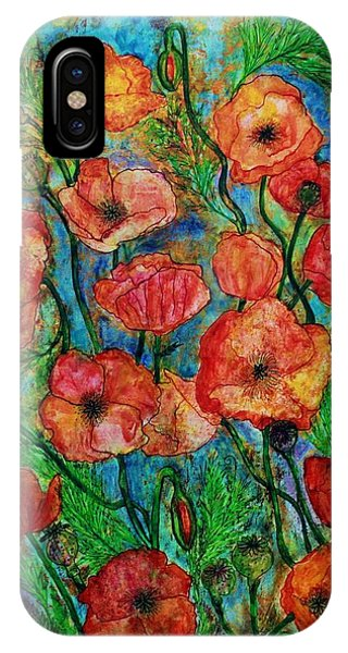 Poppies In Storm IPhone Case