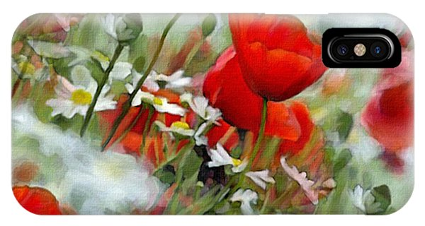Poppies In The Field IPhone Case