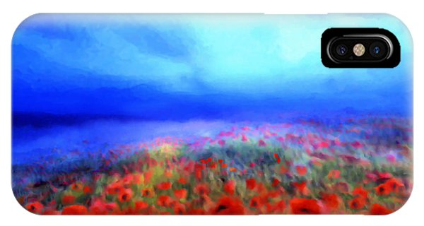 Poppies In The Mist IPhone Case