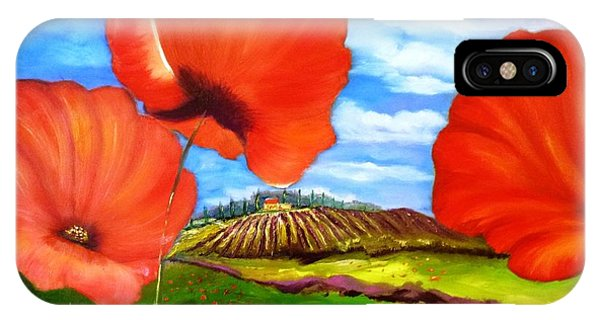 Poppies Of Provence IPhone Case