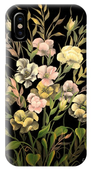 Poppies On Black Canvas IPhone Case