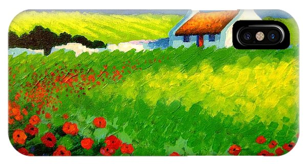 Colourful iPhone Case - Poppy Field - Ireland by John  Nolan