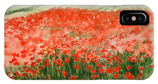 Poppy Field IPhone Case