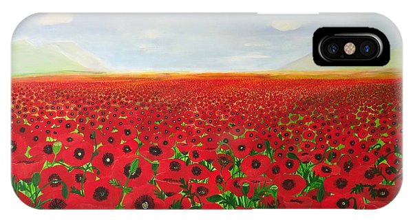 Poppy Fields IPhone Case