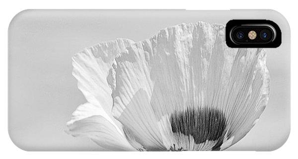 Poppy In White IPhone Case