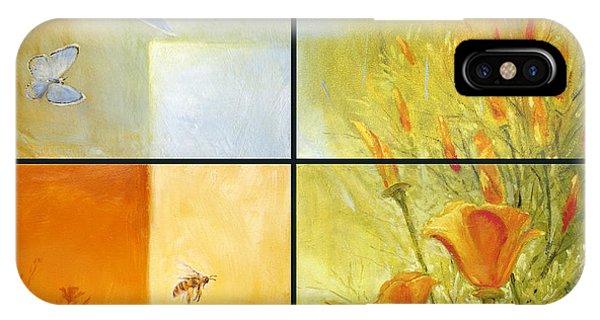 Poppy Pollination IPhone Case