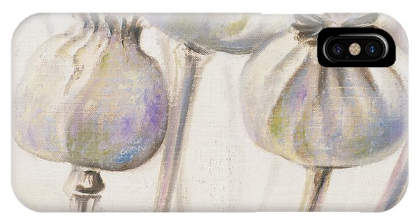 Poppies iPhone Case - Poppy Seeds I by Patricia Pinto
