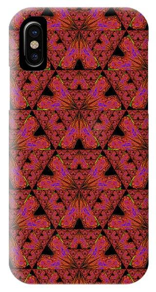 Poppy Sierpinski Triangle Fractal IPhone Case