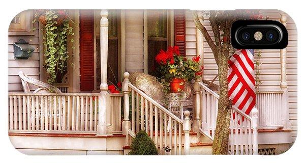 Savad iPhone Case - Porch - Americana by Mike Savad