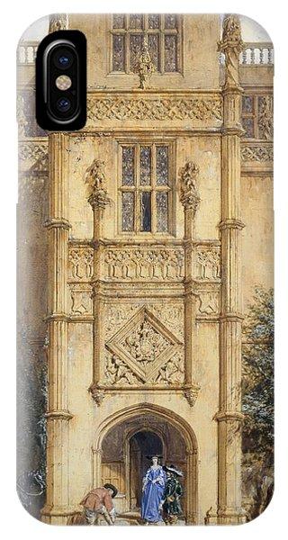Porch iPhone Case - Porch At Montacute, 1842 by John Nash