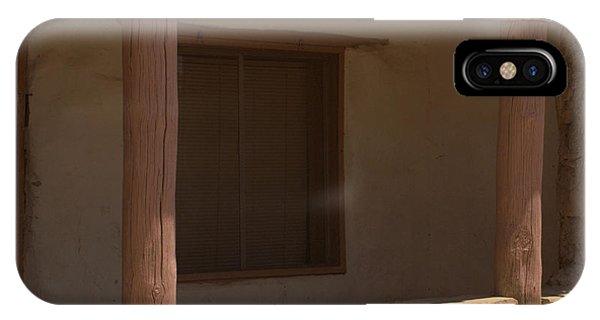Porch Of Pueblo Home IPhone Case