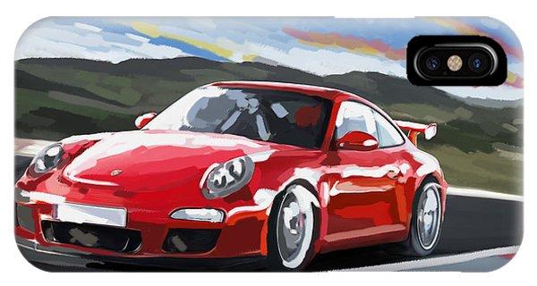 Porsche 911 Gt3 Impressionist IPhone Case