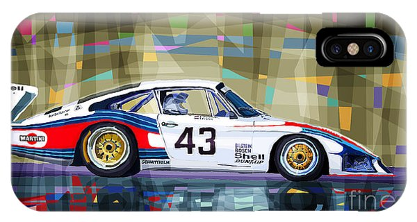Mixed-media iPhone Case - Porsche 935 Coupe Moby Dick by Yuriy Shevchuk