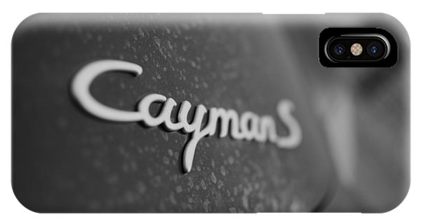 Standing Porsche Cayman S IPhone Case