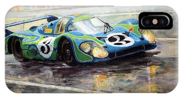 Automotive iPhone Case - Porsche Psychedelic 917lh  1970  Le Mans 24  by Yuriy Shevchuk