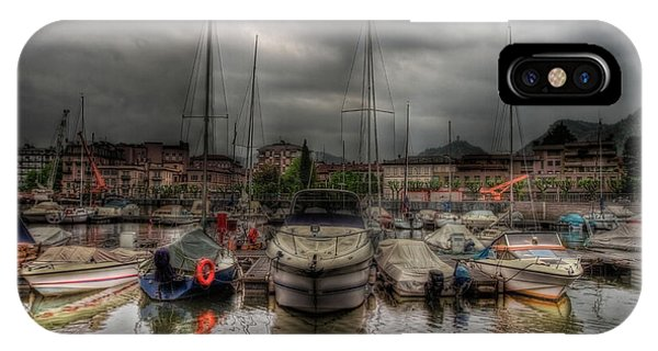 Port At Como Lake IPhone Case