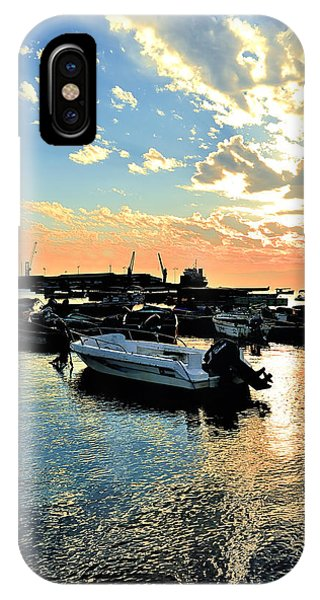 Port At Sunset IPhone Case