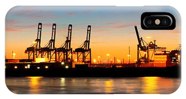 Port Of Hamburg Panorama IPhone Case