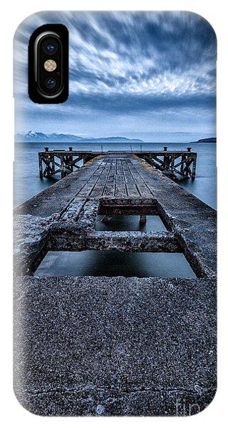 Beautiful Scotland iPhone Case - Portencross Pier  by John Farnan