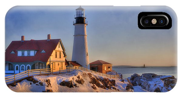 Portland Head Light - New England Lighthouse - Cape Elizabeth Maine IPhone Case