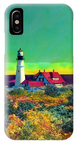 Portland Head Light V IPhone Case