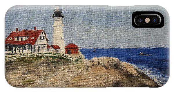 Portland Head Lighthouse In Maine IPhone Case