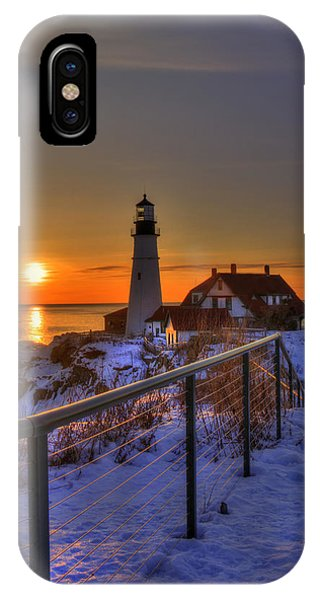 Portland Head Lighthouse Sunrise - Maine IPhone Case